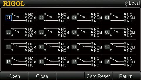 Rigol MC3416 Control Interface