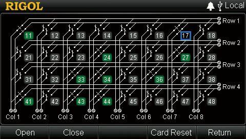 Rigol MC3648 Control Interface
