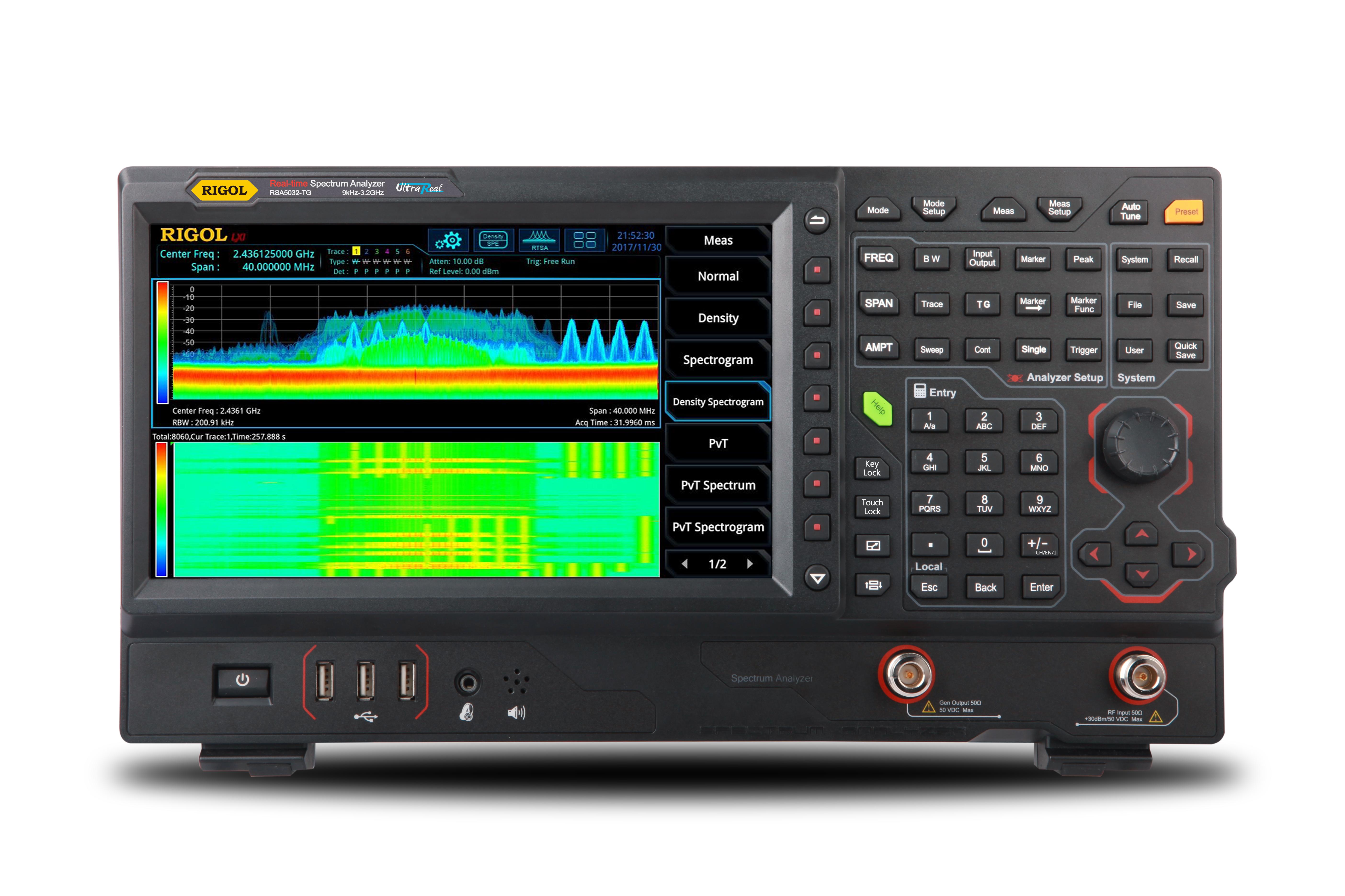 Rigol RSA5032-TG Reaaliaikainen spektrianalysaattori 3,2GHz (tracking  generator)